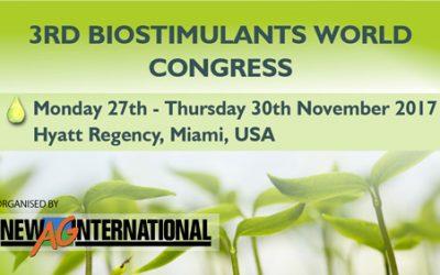 Du 27 au 30 novembre prochain CYBELE AGROCARE participera au 3ème biostimulants world congress à Miami en Floride.