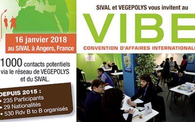 16 janvier 2018 à Angers, Rencontres VIBE organisées par Végépolys à l'occasion du salon du SIVAL